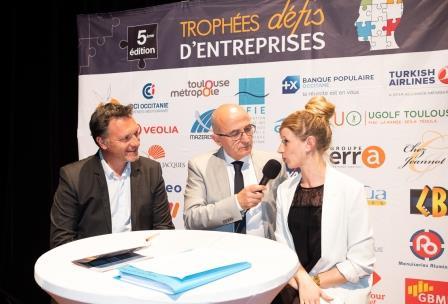 Marion VICENTE du Groupe ERRA lors de la 5ème Cérémonie des Défis d'Entreprises